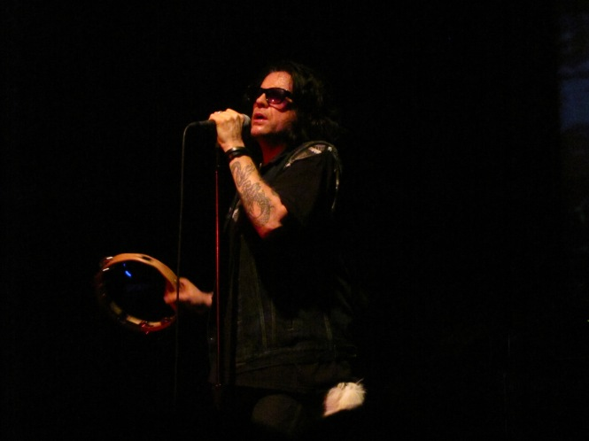 Ian Astbury of The Cult - Photo taken with a compact camera